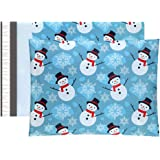 UCGOU 10x13 Christmas Poly Mailers Shipping Envelopes Boutique Custom Bags, Premium Christmas Snowman Designer, Thickness 2.35MIL, Pack of 100