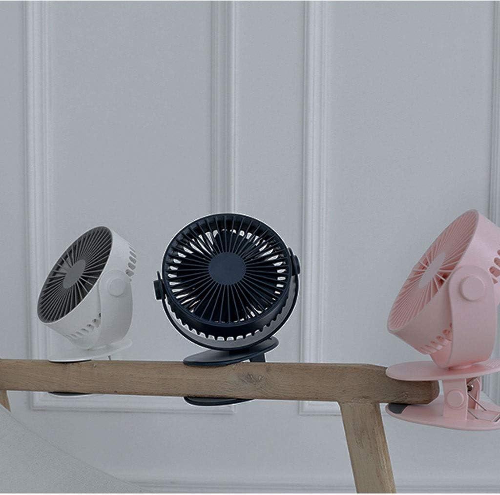 XZ15 Mini Ventilatore Studente dormitorio Clip Portatile Ventilatore USB Ricaricabile Portatile Piccolo Ufficio scrivania Letto Desktop Auto Ultra-Silenzioso (Color : White) Pink