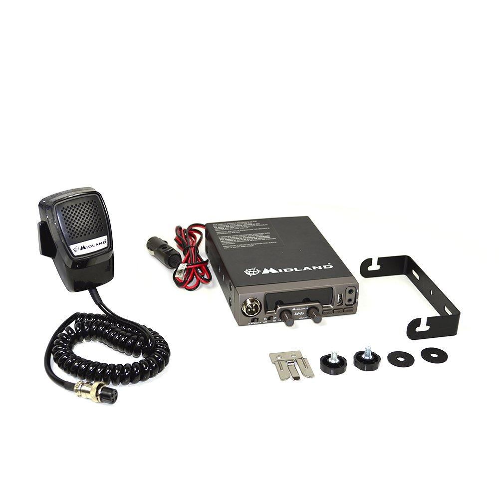 Midland M10/ Radio CB Multi Norme avec AM//FM Connexion USB//Automatic Digital Squelch Noir