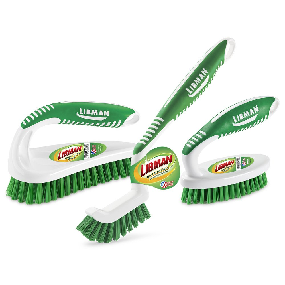 Libman Scrub Brush Kit, Green White