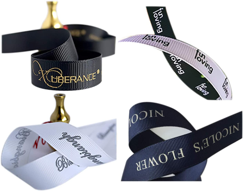 100 Yard Personalized Ribbon Custom Printed Ribbon Printed Ribbon for Weddings Anniversary Gift Wrap Invitation Favors /& Birthday