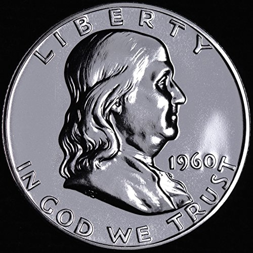 - 1960 - SILVER - GEM PROOF (PR63 PLUS) - FRANKLIN HALF DOLLAR