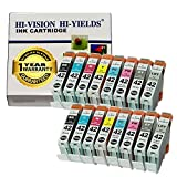 HI-VISION Compatible CLI-42 CLI42 16 pcs set Ink Tank replacement for Professional inkjet PIXMA PRO-100 Black,Cyan,Yellow,Magenta,Photo Cyan,Photo Magenta,Gray,Light Gray 6384B007 Multi colors