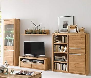 wohnwand pisa 28 eiche bianco massiv 4 teilig medienwand tv wand wohnzimmer tv