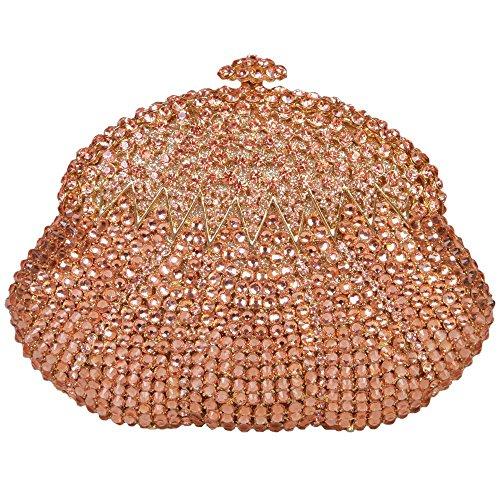 Donne A Nozze Strass Di Tracolla 3 Cristallo Borse Calabash Colori Da Diamante Forma Delle Arancione Amovibile Sera Festa Clutch Santimon Con qOgIEE
