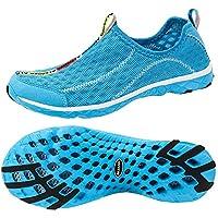 Zapatillas antideslizantes de malla para mujer ALEADER, azul 11 D (M) EE. UU.
