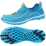 ALEADER Women's Mesh Slip On Water Shoes Blue 9 D(M) US