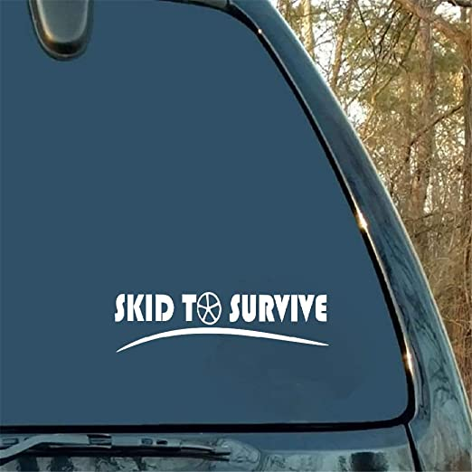 Fixed Gear or Single Speed Vinyl Sticker//Decal Skid To Survive Fixie