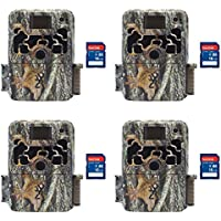 Browning Trail Cameras Dark Ops Elite 10MP HD IR Game Camera, 4 Pack + SD Cards