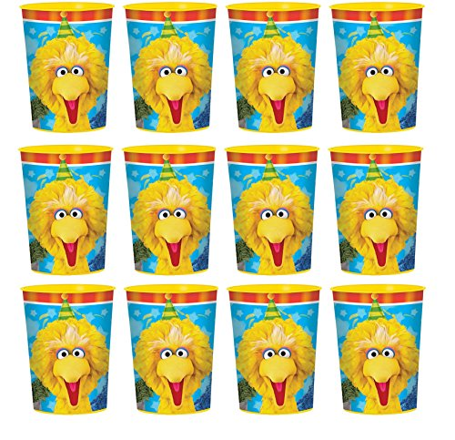 Sesame Street Lot of 12 Elmo 16oz Party Plastic Cup ~Party Favor Supplies~ by Disney ()