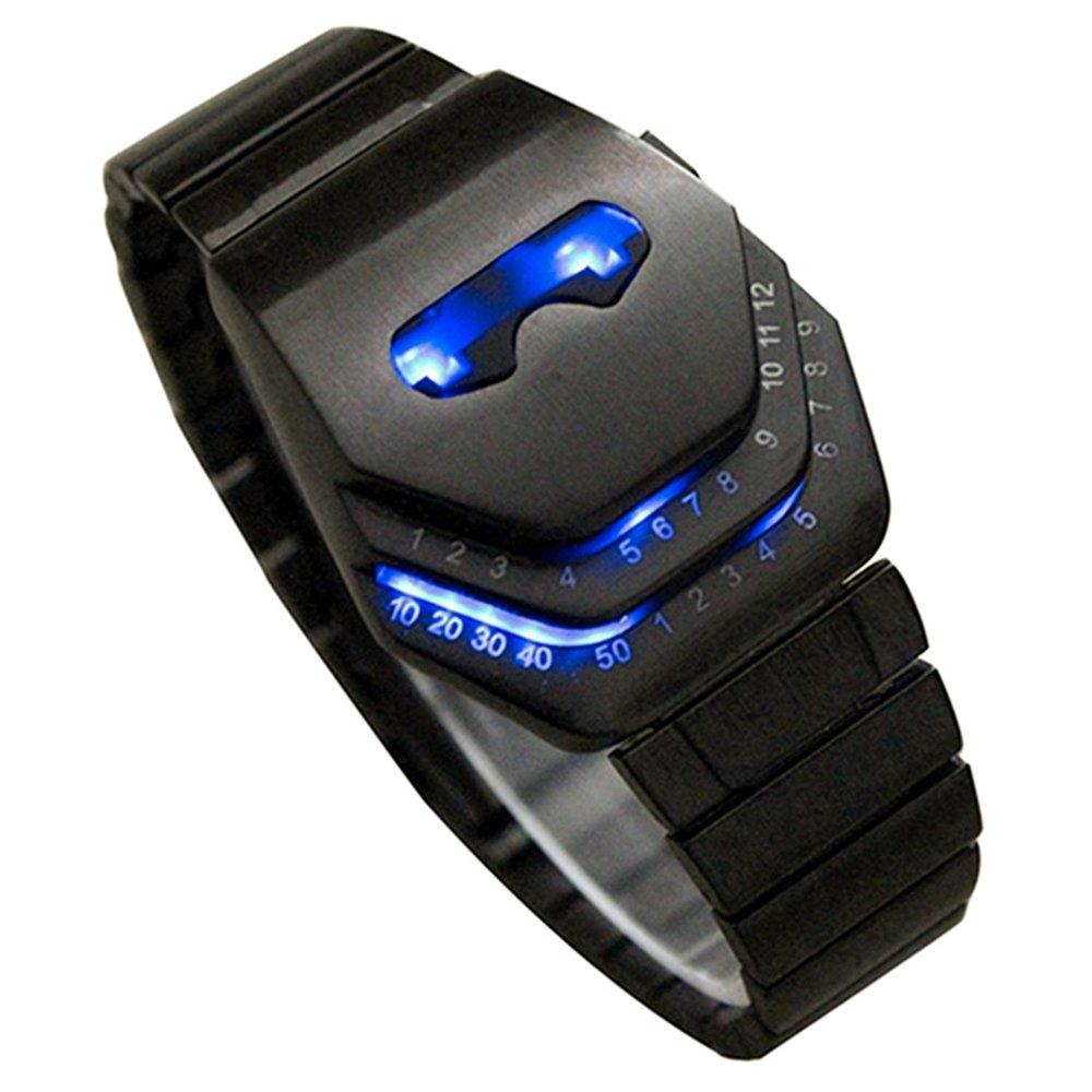 Vavna Men's Peculiar Cool Gadgets Interesting Amazing Snake Head Design Blue LED Watches WTH8021