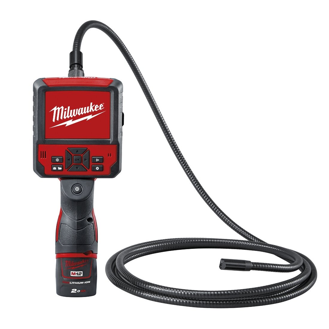 Milwaukee 4933451367–M12icav3–201C fotocamera ispezione digitale di 17mm, 640x 320, 12V 2,0ah con testa rotante 640x 320 12V 2 0ah con testa rotante