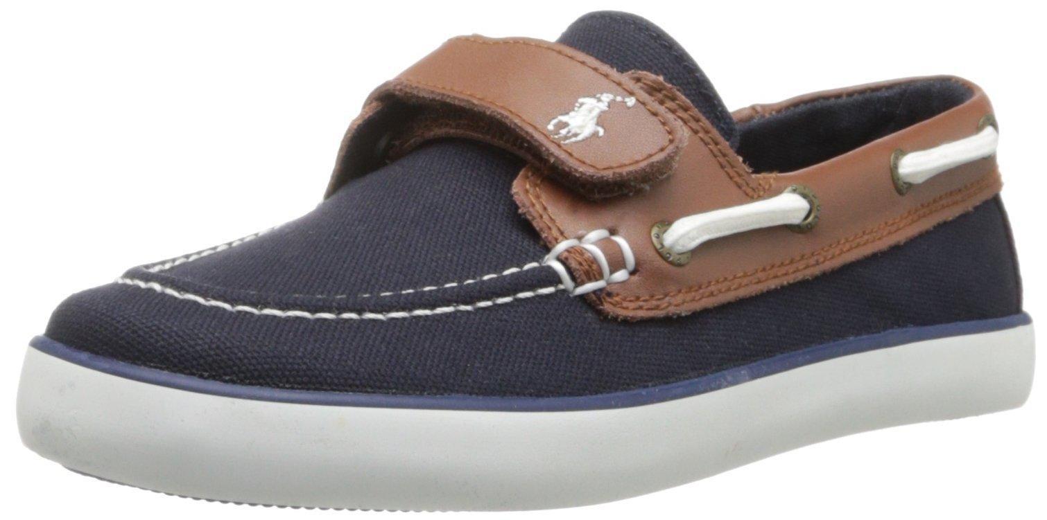 Polo Ralph Lauren Kids Sander-CL EZ Sneaker (Toddler/Little Kid), Navy,3 M US Little Kid