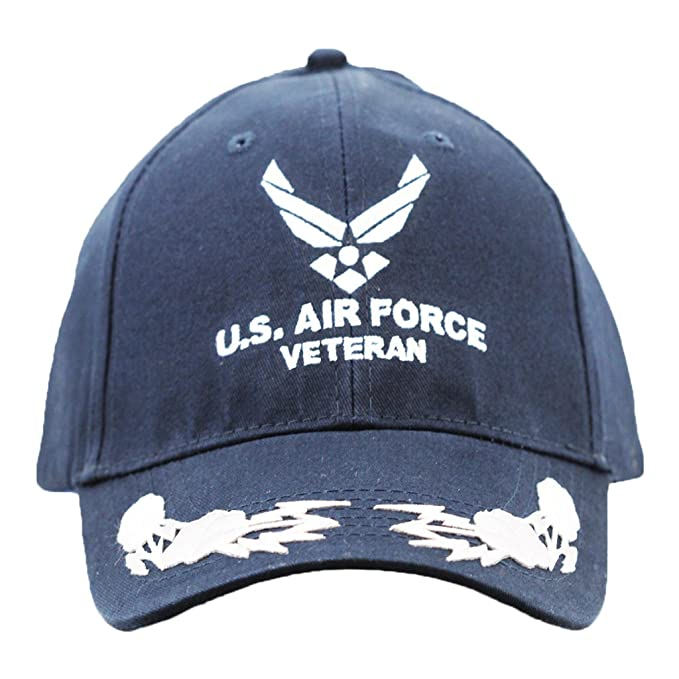 6bb1247c74a Image Unavailable. Image not available for. Color  United States Air Force  Veteran Hat With Scrambled Eggs Caps ...