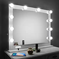 Vanity Mirror Lights Kit,LED Lights For Mirror With Dimmer And USB Phone  Charger,