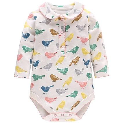 Mameluco Bebé Niña - Pijamas Bebé Peleles Algodón Mameluco Niñas Monos Bebé Body Mangas Largas Trajes