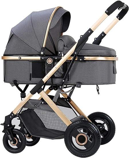 Opinión sobre Cochecito de bebé liviano, puede sentarse o acostarse con una llave para plegar, gran espacio para dormir, sistema de doble absorción de impactos, ruedas resistentes al desgaste y duraderas