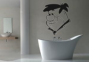 Fred Flintstone Wall Decal Nursery Decor Vinyl Sticker Wall Decor Removable Waterproof Decal