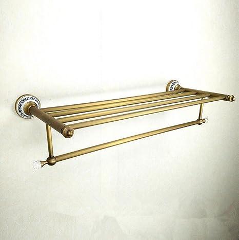 Sucastle,Antigüedades europeo cuarto de baño hardware colgante baño colgante toallero toalla,Material: