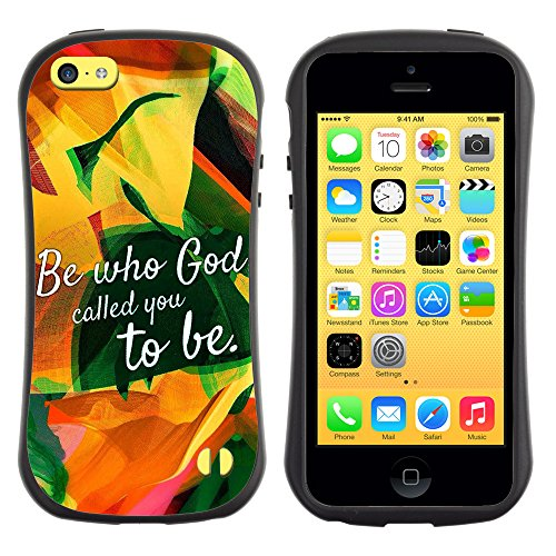 DREAMCASE Citation de Bible Silicone et Rigide Coque Protection Image Etui solide Housse T¨¦l¨¦phone Case Pour APPLE IPHONE 5C - BE WHO GOD CALLED YOU TO BE