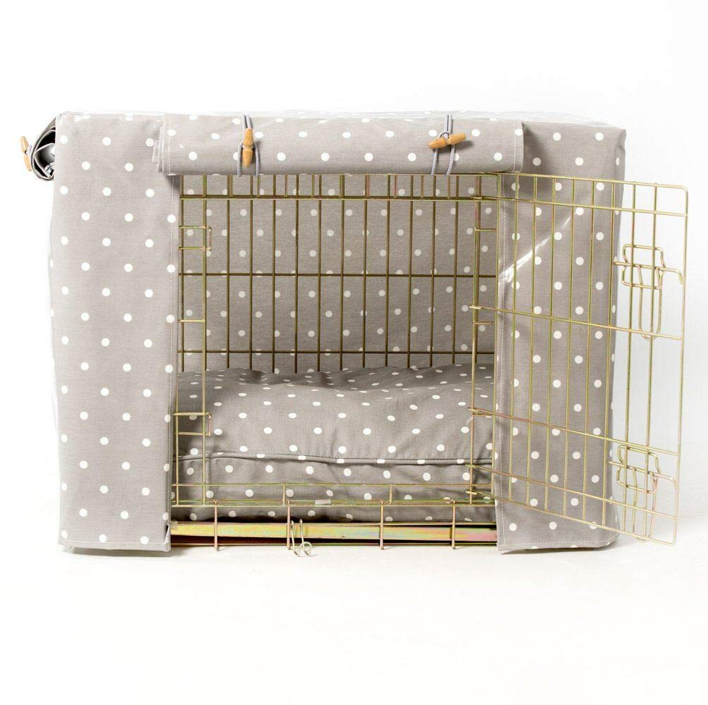 Hidey-Hidey Grey Spot Crate Cage Cover to fit Pets at Home Crate, Size  Medium (36 )
