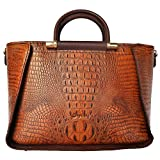 Daimanbo Crocodile Grain Stylish Noble Attractive Imported Real Leather Handbag
