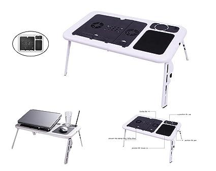 G-anica ® Mesa de cama plegable con soporte para ordenador, Tablet,