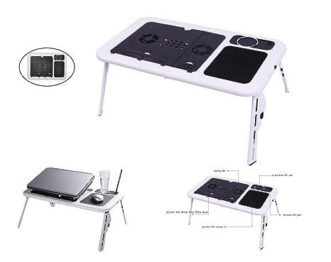 G-anica ® Mesa de cama plegable con soporte para ordenador, Tablet, reclinable para PC portátil, ...