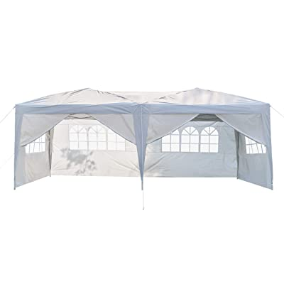 Party Tent 10x20 Heavy Duty Canopy Tent with Removable Sidewalls Outdoor Wedding Tent, 6 Sides : Garden & Outdoor