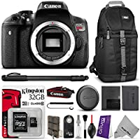 Canon EOS Rebel T6i Digital SLR Camera w/ Essential Bundle - Includes: Camera Sling Backpack, Monopod, Kingston 32GB SD Card w/ Adapter, Altura Photo Remote, Camera Cleaning Set Noticeable Review Image