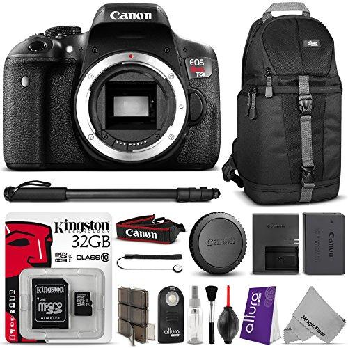 Canon Eos Rebel T6i Digital Slr Camera W Essential Bundle