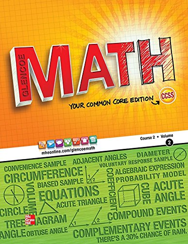 Glencoe Math, Course 2, Student Edition, Volume 2 (MATH APPLIC & CONN CRSE)