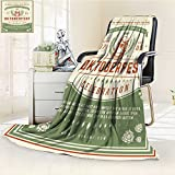 Luminous Microfiber Throw Blanket oktoberfest beer festival celebration poster or flyer template retro typography Glow In The Dark Constellation Blanket, Soft And Durable Polyester(60''x 50'')