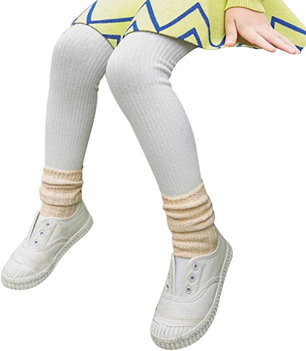 I2I Childrens 1 Pair Girls Tights Back to School Plain Coloured Cotton Rich New