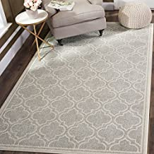 Safavieh Amherst Collection AMT412B Light Grey and Ivory Indoor/Outdoor Area Rug, 4 Feet by 6 Feet