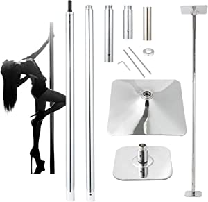 UMEKEN Stripper Pole Spinning Static Dance Pole for Home Bedroom 45 mm Portable Adjustable Dancing Pole for Beginners and Professionals Fitness Exercise Club Pub Gym, Heavy Duty Removable Dancer Pole