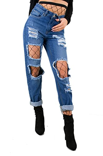 Catwalk - Pantalón - para mujer azul Washed Denim 38