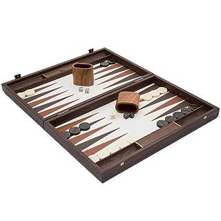 Manopoulos - The Luxury Backgammon Set con Tazze di Lusso, Colore: Avorio e Noce