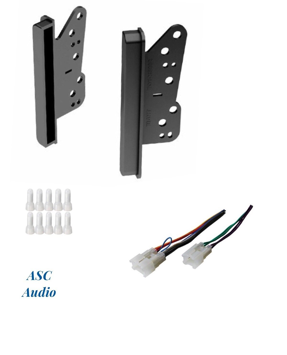 ASC Double Din Car Stereo Dash Kit and Wire Harness for some Scion Toyota - Compatible Vehicles Listed Below