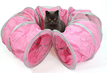 AOAO túnel para gatos, juguetes para túnel de gato para interiores y exteriores, juguetes para mascotas y gatos, juguete divertido para jugar al túnel: ...