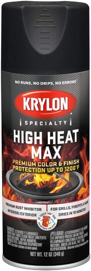 Krylon K01607000 High Heat Max Black Gloss 12 Ounce Amazon Com