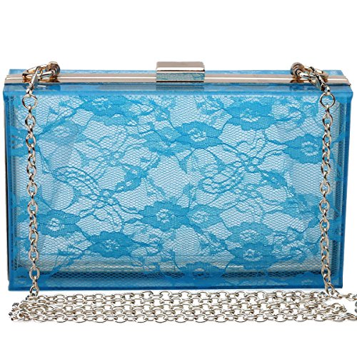 Handbag Lace Acrylic Clutch Shoulder Evening Mogor Party Women's Crossbody 4 Purse wI6qqxS5