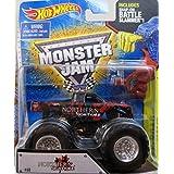 2014 Hot Wheels Monster Jam Northern Nightmare Truck with Battle Slammer 1:64 scale by Monster Jam