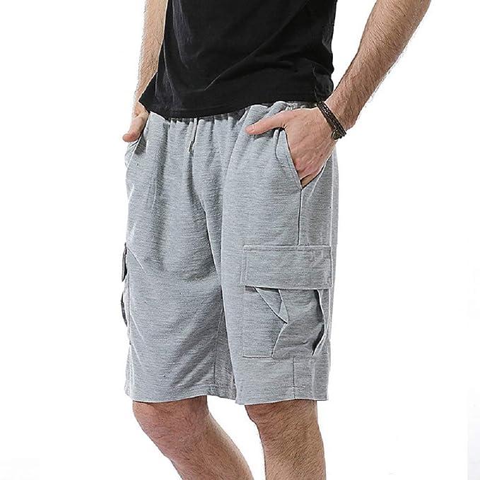 piuttosto bella 0d33d a90a8 Zhrui Pantaloni Tuta Uomo Cotone Corti Pantaloncini Casual ...