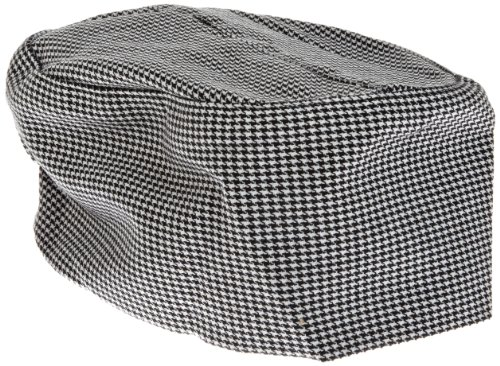 (Chef Revival H009 Poly Cotton Blend Pill Box Hat, Regular, Hounds Tooth)