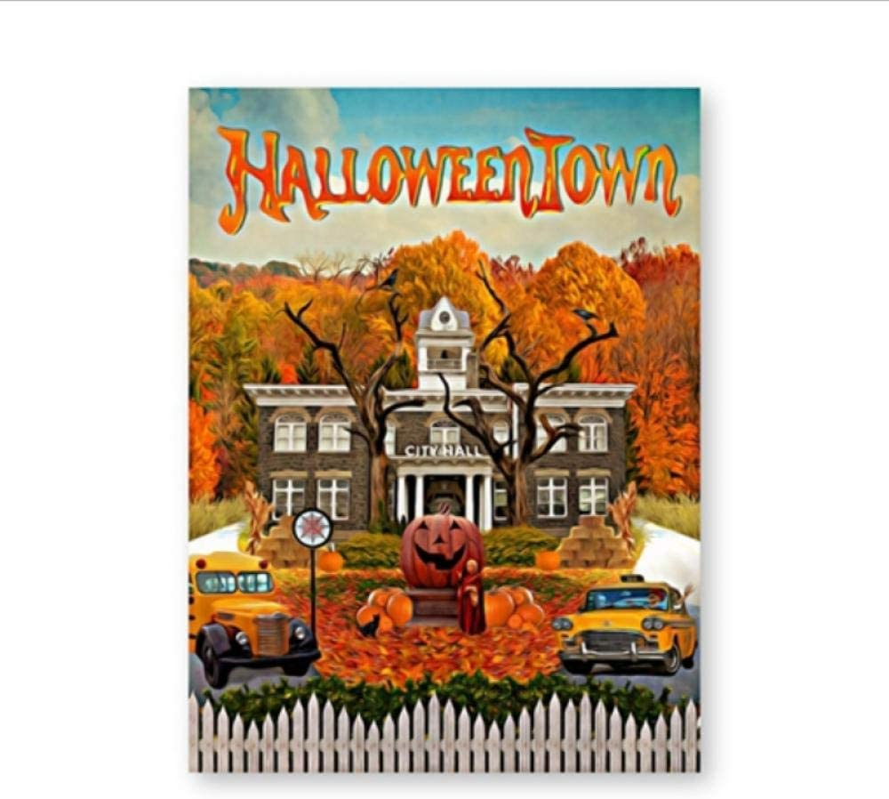 caomei Halloween Town Poster and Print Classic Fantasy Family Comedy Movies Canvas Painting Wall Picture for Living Room Home Decor -50x70cm(no Frame)
