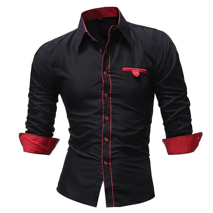 the best attitude b5e75 e5151 Lonhra Herren Business-Hemd Slim-Fit Hemd Männer Hemden für ...