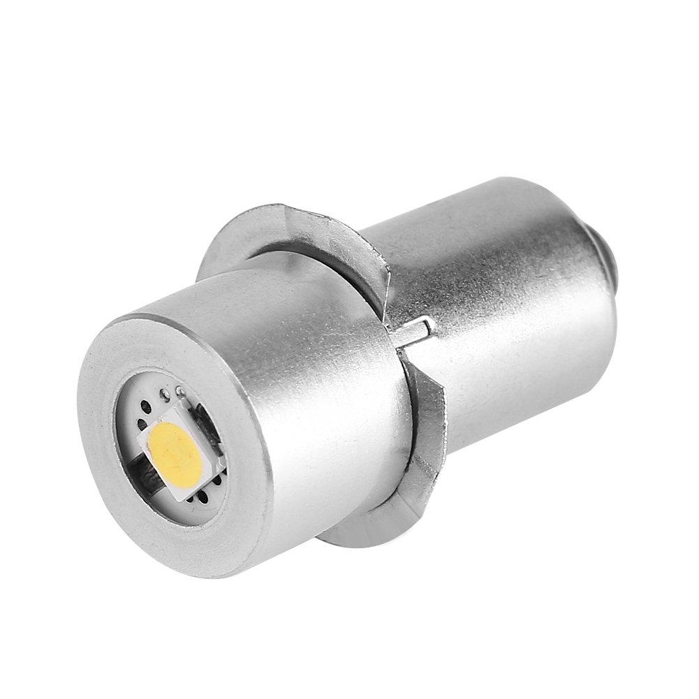 Ampoule de lampe de poche LED Puissance 1W 6-24V pièce de rechange LED Kit de conversion Ampoules LED haute luminosité de travail d'urgence Lampe de poche lampe de poche ampoules de rechange(9V) eecoo
