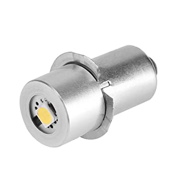 Asixx Bombilla LED de Alta Intensidad, LED Bombilla, 1W 3V, 4.5V, 6V, 9V,para Portalámparas P13.5S(3V): Amazon.es: Hogar
