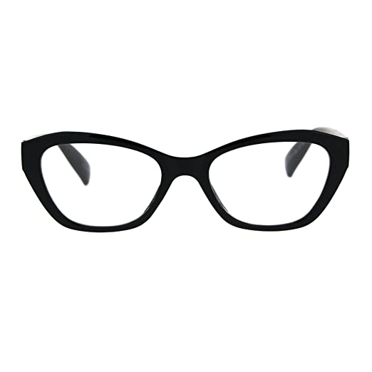 bcbba156e2 Womens Luxury Fashion Narrow Cat Eye Style Plastic Frame Reading Glasses  Black +1.0